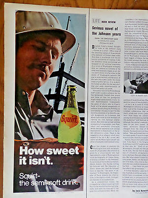 1970 Squirt Soda Ad How Sweet it Isn't  Contruction Worker