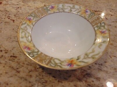 6 Inch hand painted gold gilded Nippon Bowl