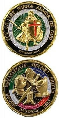 United States Military Challenge Coin Put on the Whole Armor of God