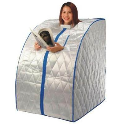 Mobile Infrared Sauna XL Deluxe, mobile infrared cabin for home, incl. chair