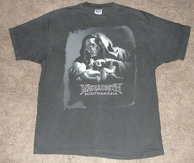 Megadeth 1994 Youthanasia Concert Tour Shirt Vintage XL Dave Mustaine