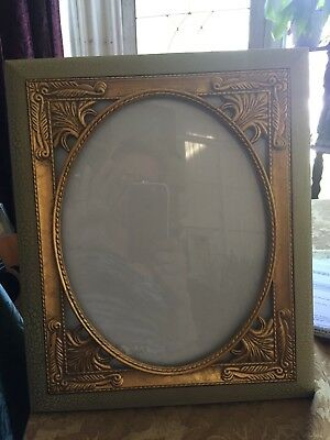 ornate gold and green vintage picture frame 9 by 12 gorgeous and flawless