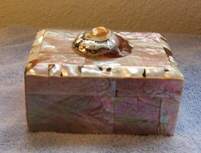 ABALONE SHELL BOX With Wood Interior