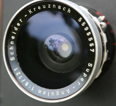Schneider Kreuznach Super-Angulon 121mm f/8 Excellent Glass