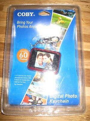 Coby digital photo keychain holgs up to 60 photos DP-151 RED