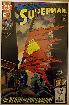 Superman #75 - THE DEATH OF SUPERMAN FIRST PRINT 1993 DC COMICS