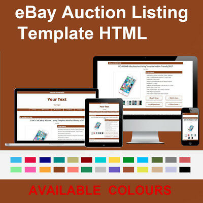 Saddle Brown eBay Auction Listing Template Responsive Image Photo Gallery 2018