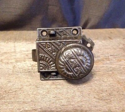Vintage Ornate Cast Iron Small Door Handle Knob Antique Victorian Screen Door