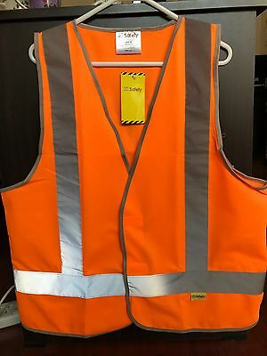 Hi Vis Safety Day/Night Vest with X back S-6XL