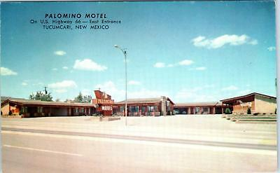 TUCUMCARI, NM New Mexico  PALOMINO MOTEL ROUTE 66   c1950s Roadside  Postcard