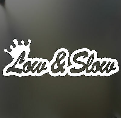 Low and Slow sticker Funny JDM acura & honda lowered car truck window decal