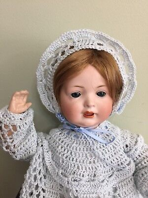Antique Bisque Baby By Bahr & Proschild 585 On A Composition Body 16""