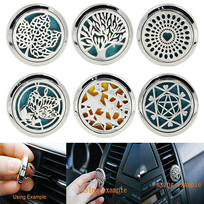 Stainless Steel Essential oil Aromatherapy-Locket Diffuser Car Air Freshener 1x