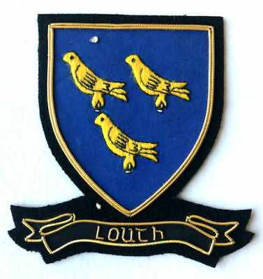 Hand Embroidered Irish County - Louth - Collectors Heritage Item To Buy Cp Made