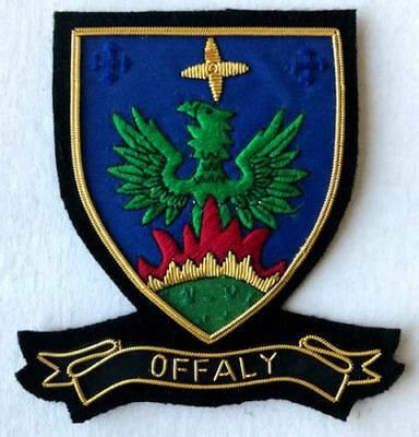Hand Embroidered Irish County - Offaly - Collectors Heritage Item To Buy Cp Made