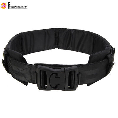 Tactical Paded Duty Belt w/ Detachable Waist Support Protection Pad Load Bearing