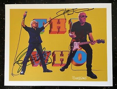 The Who 2017 VIP Tour Poster Signed by Roger Daltrey & Pete Townshend!!!