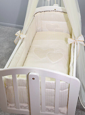 All round/ all around Nursery bumper 260cm long/ Paded/ to fit Swinging Crib