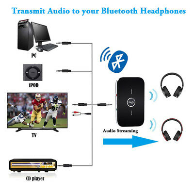 2in1 HIFI Wireless Bluetooth Audio Transmitter&Receiver 3.5MM RCA Music Adapter