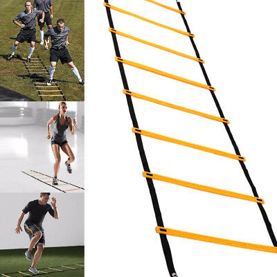 12 Rung 6M Speed Agility Training Ladder for Soccer Fitness Flat Rung Team Sport