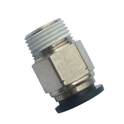 """Pneumatic Push In Air Fitting Straight Male Connector 6 mm OD*1/4""""NPT"""