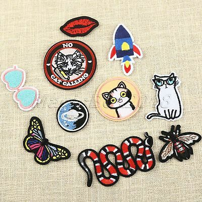 flower butterfly heat transfer iron on patches badge cloth dressapplique craftVQ