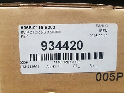 New Fanuc AC SERVO MOTOR A06B-0115-B203  Fedex Shipping next day available W. EU