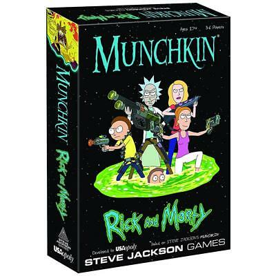 NEW Munchkin Rick and Morty Classic Card Dice Board Game Adult Swim TV Show