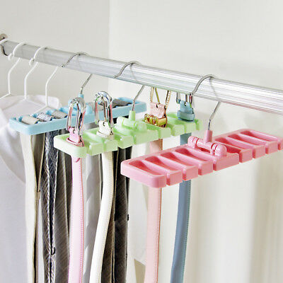 Tie Hanger Rack Organizer Belt Holder Closet Hook Ties Storage Necktie  Scarf New