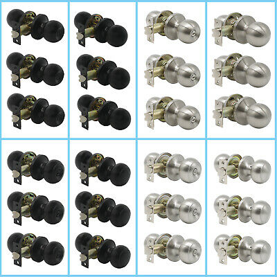Privacy and Passage Interior Door Knobs Black/Brushed Nickel Door Levers 1-10set