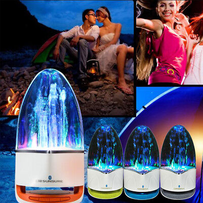 Portable LED Light Bluetooth Music Fountain Water Dancing Speaker For Phone Ipad