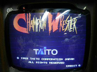 Champion Westler Taito Jamma game board arcade 1989