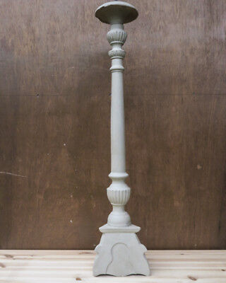 French Wooden Antique Altar Stick - Candle Stick