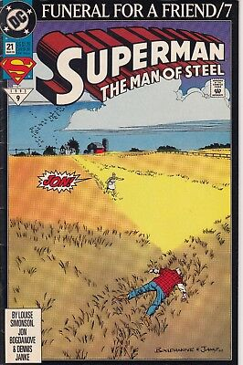 SUPERMAN MAN OF STEEL    21  ..  F/VF .....1993..........Bargain!