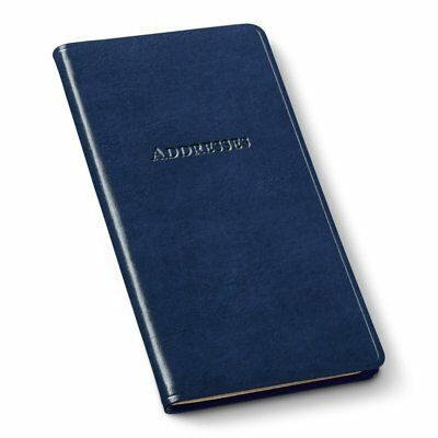 Gallery Leather Pocket Address Book Navy