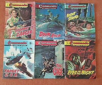 Lot of  vintage COMMANDO War Picture Comics. Used
