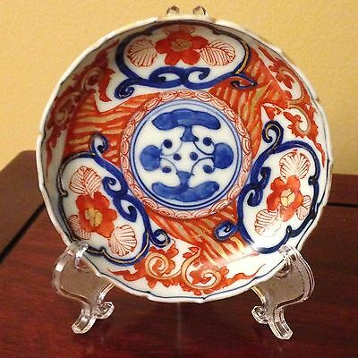 Antique c. 1870 Chinese Hand Painted Porcelain Imari Style Bow/ Plate-Signed