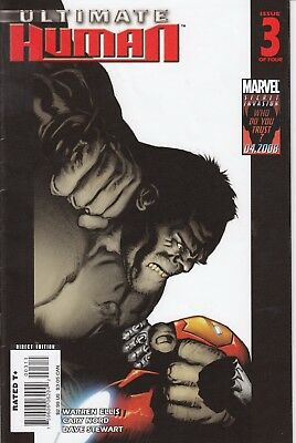 ULTIMATE HUMAN   3   ..VF/VF+- .....2008....IRON MAN/HULK!...Bargain!