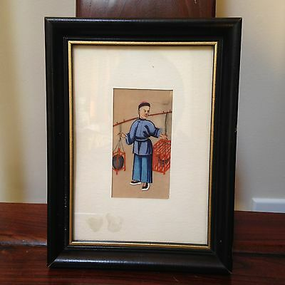 Antique 19Th Century Chinese Folk Painting on Pith Paper --A Lost Art