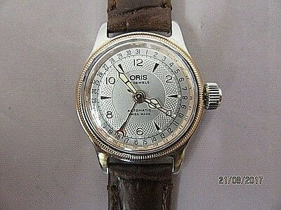 Oris 7464 Automatic Wrist Watch with Bi-Colour Case and Brown Leather Strap