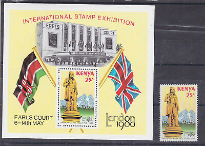 1980 25sh Sc 166+166a MNH,set ,flag,.sir rowland..      k840