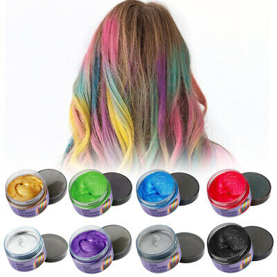 7 Colors Unisex DIY Hair Color Wax Mud Dye Cream Temporary Modeling