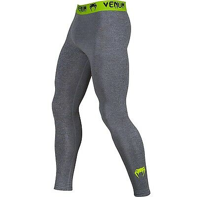 Venum Contender MMA Spats BJJ Grey Grappling Tights Gym Compression Pants