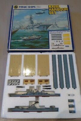 Hornby Minic Ships Naval Harbour Set Boxed ex Tri-ang
