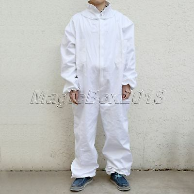 Beekeepers Bee Suit Coat Clothing Smock Beekeeping Jumpsuit Jacket W/ Veil Hat