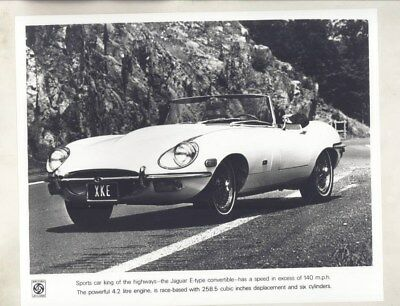 1971 Jaguar XKE Convertible ORIGINAL Factory Photograph wy5120