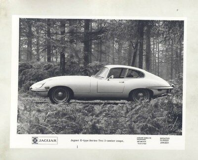 1971 Jaguar E Type Series Two 2 Seater Coupe ORIGINAL Factory Photograph wy5128