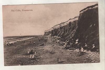 NORFOLK - THE CLIFFS, HUNSTANTON Postcard *