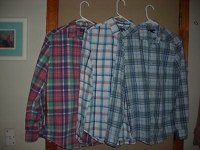 Lot Of 3 Gap Mens Long Sleeve Shirts. Size S & M Gently Worn. All Look Small.