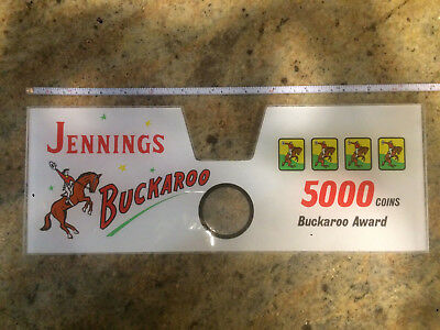 "Jennings ""Buckaroo"" Plastic Insert Slot Machine New Old Stock"